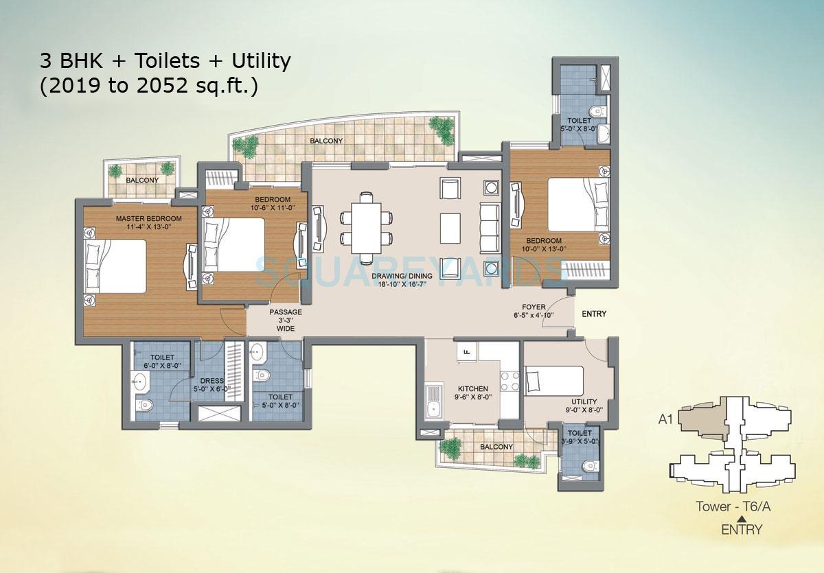 bptp the resort apartment 3bhk sq 2019sqft 1