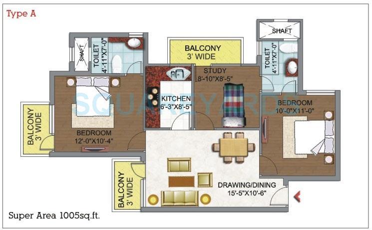 dhingra gloria apartment 2bhk 1005sqft 1