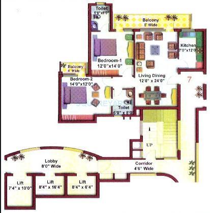 eros charmwood village apartment 2bhk 1283sqft 1