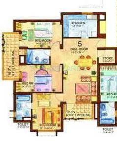 eros charmwood village apartment 3bhk 1635sqft 1
