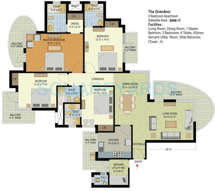 espire hamilton heights apartment 4bhk 2486sqft 1