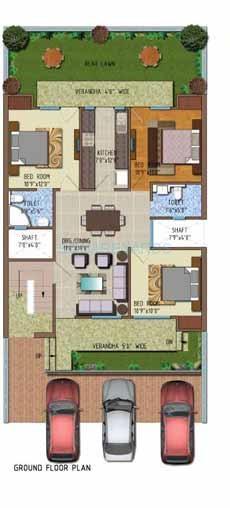 ferrous florence homes ind floor 3bhk 1492sqft 1