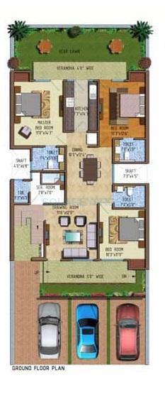 ferrous florence homes ind floor 3bhk gf 1852sqft 1
