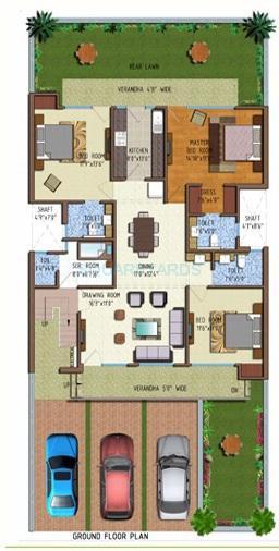 ferrous florence homes ind floor 3bhk gf 2347sqft 1