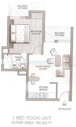 klj espana apartment 1bhk 750sqft 1