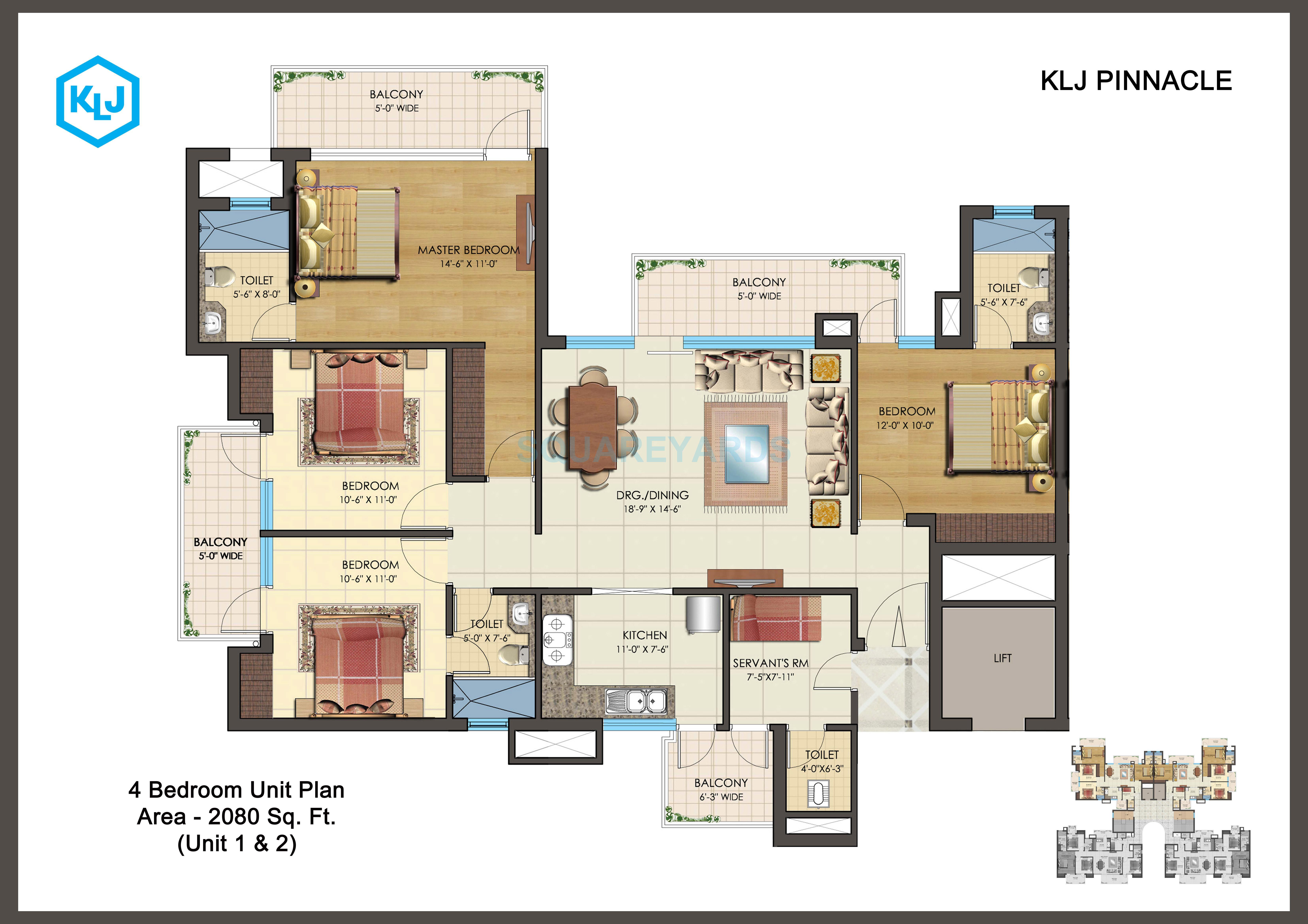 klj pinnacle apartment 4bhk 2080sqft 1