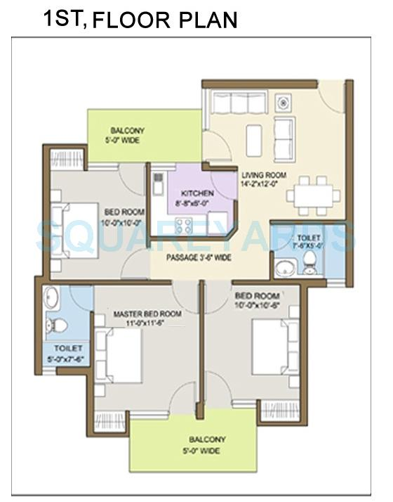 klj platinum floors independent floor ff 3bhk 1000sqft 1