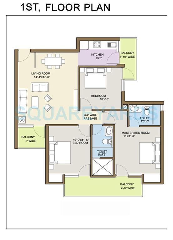 klj platinum floors independent floor ff 3bhk 1112sqft 1