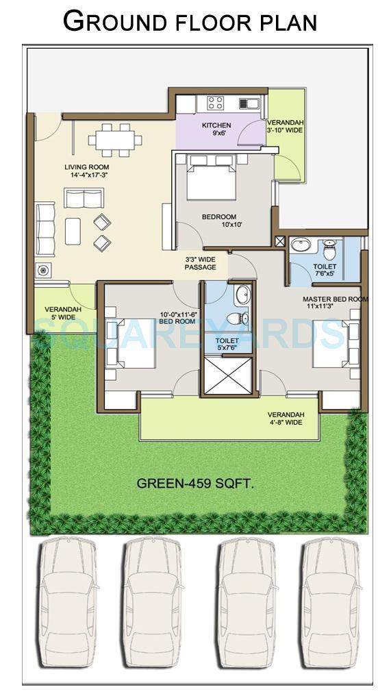 klj platinum floors independent floor gf 3bhk 1541sqft 1