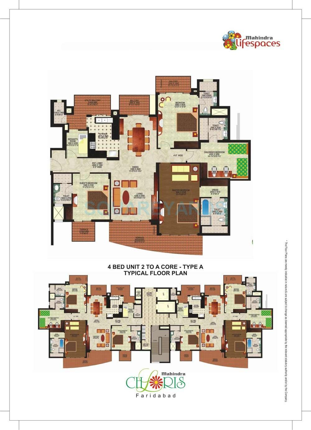 mahindra lifespaces chloris apartment 4bhk 2900sqft 1