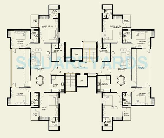 omaxe green valley penthouse 4bhk 2010sqft 1
