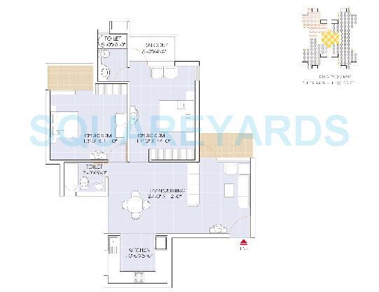 omaxe heights apartment 2bhk 1165sqft 1