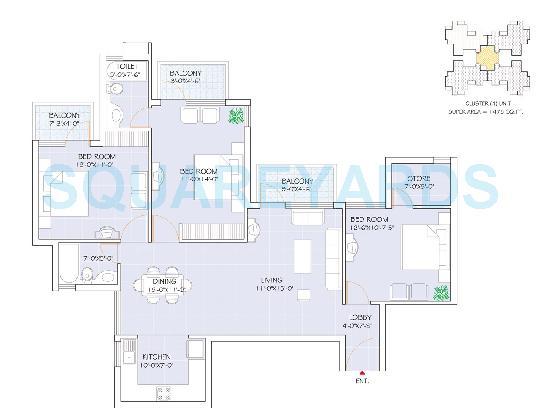 omaxe heights apartment 3bhk 1475sqft 1