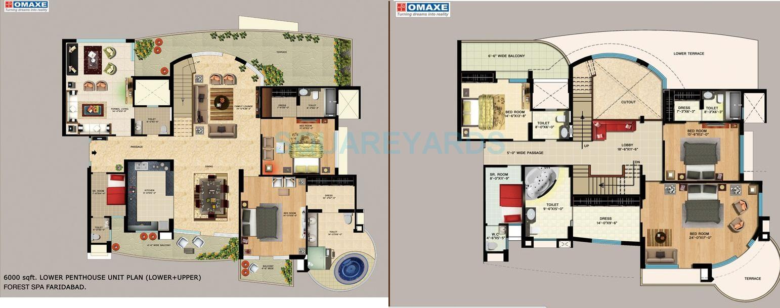 omaxe the forest spa independent floor 5bhk sq 6000sqft 1