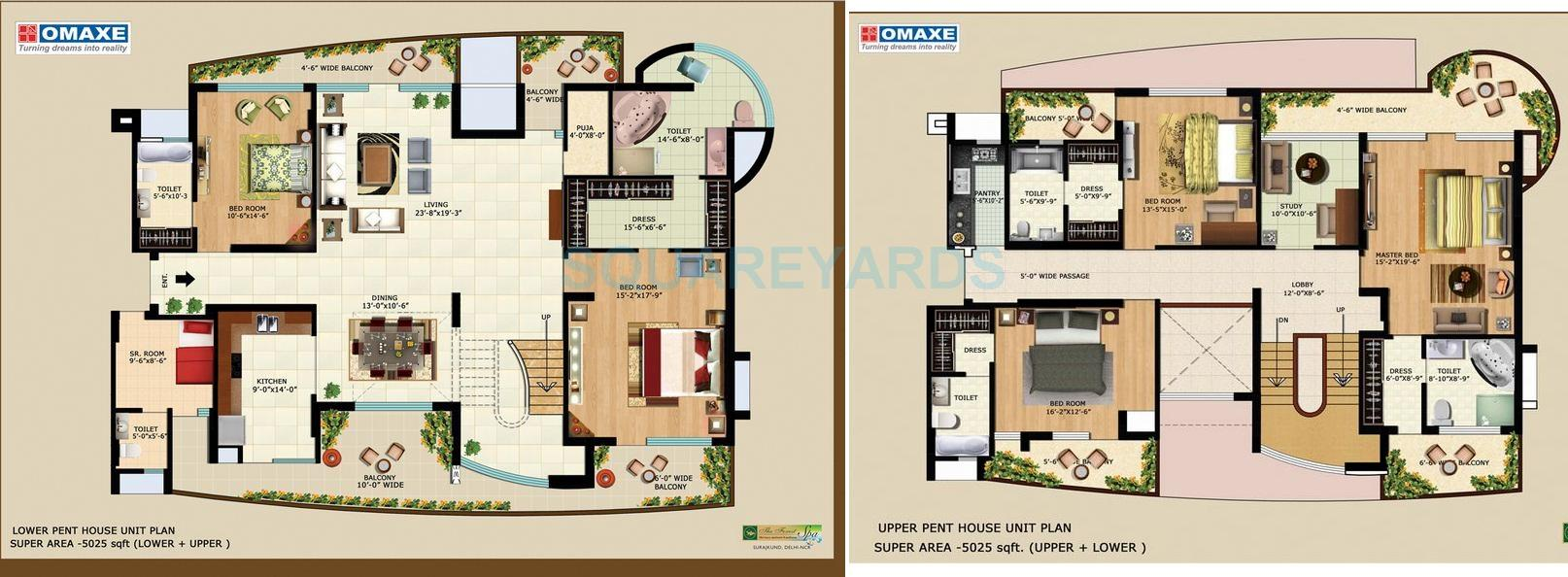 omaxe the forest spa penthouse 5bhk sq 5025sqft 1