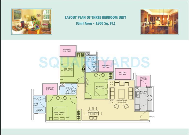 ors royal residency apartment 3bhk 1500sqft 1