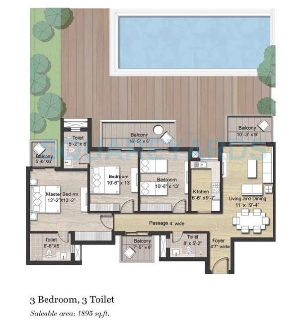 puri aanandvilas apartment 3bhk 1895sqft 1