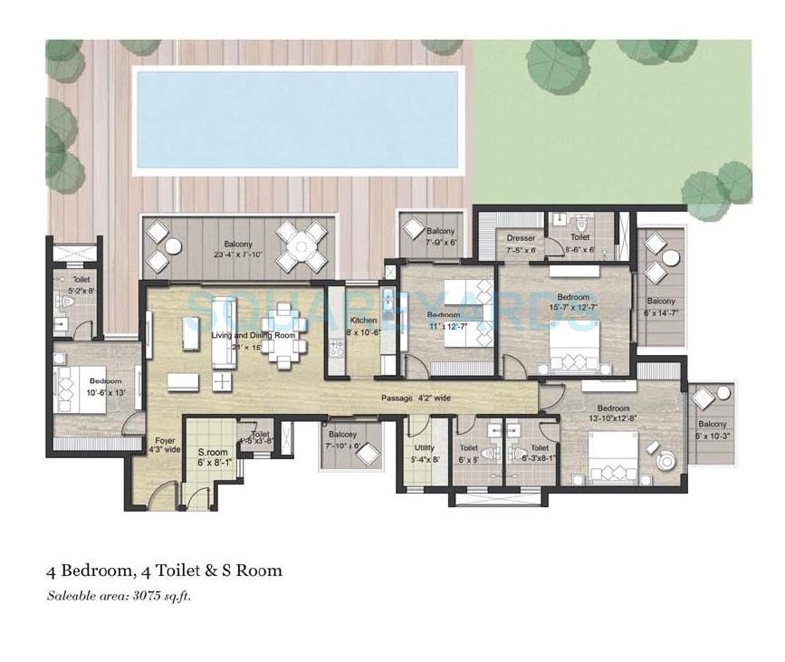 puri aanandvilas apartment 4bhk sq 3075sqft 1