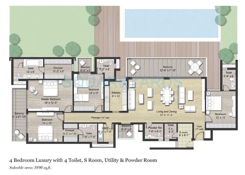 puri aanandvilas apartment 4bhk sq 3890sqft 1