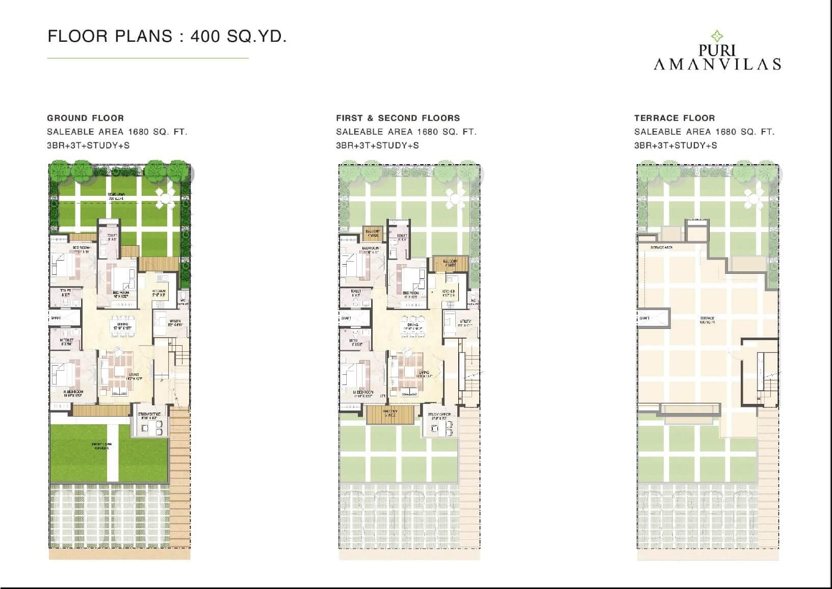 puri aman vilas ind floor 3bhk st 1680sqft 1
