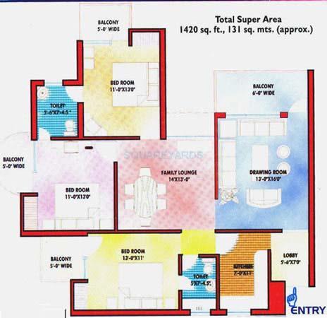 saffron kanishka tower apartment 3bhk 1420sqft 1