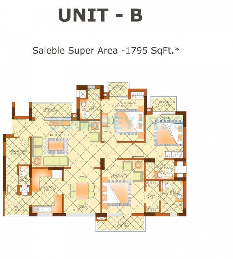 shiv sai ozone park apartment 3bhk sq 1795sqft 1