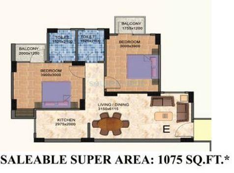 shiv sai vatika apartments apartment 2bhk 1075sqft 1