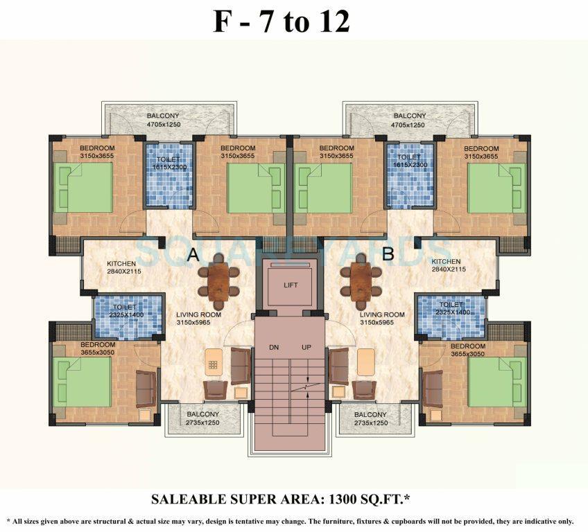 shiv sai vatika apartments apartment 3bhk 1300sqft 1