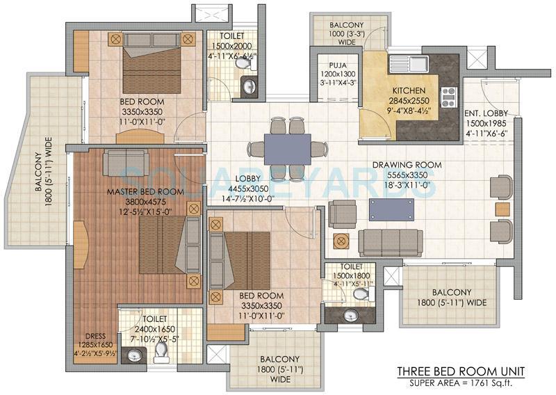 slf indraprastha apartments apartment 3bhk 1761sqft 1