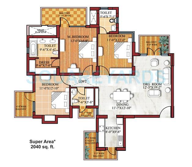 spr imperial estate apartment 3bhk 2040sqft 1