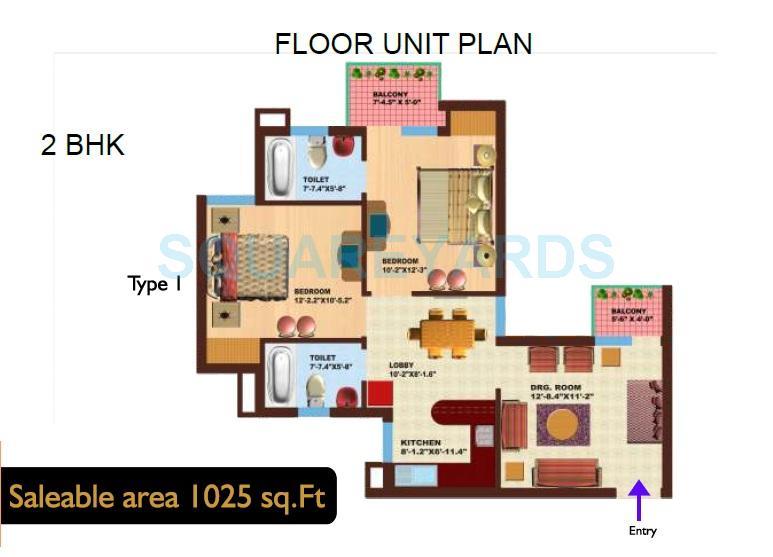 srs royal hills apartment 2bhk 1025sqft 1