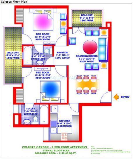 zion stonecrop celeste garden apartment 2bhk 1142sqft 1