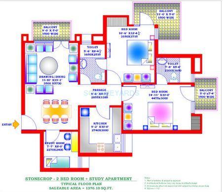 zion stonecrop celeste garden apartment 2bhk st 1376sqft 1