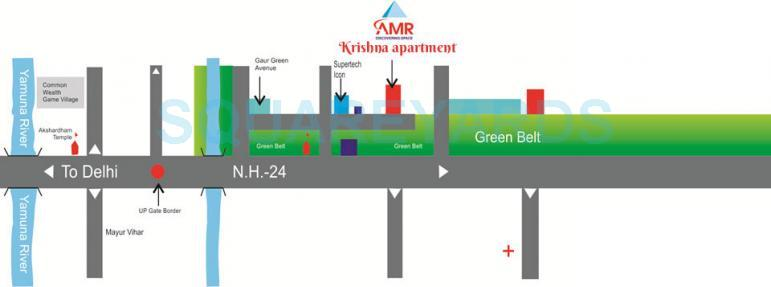 amr krishna apartment location image1