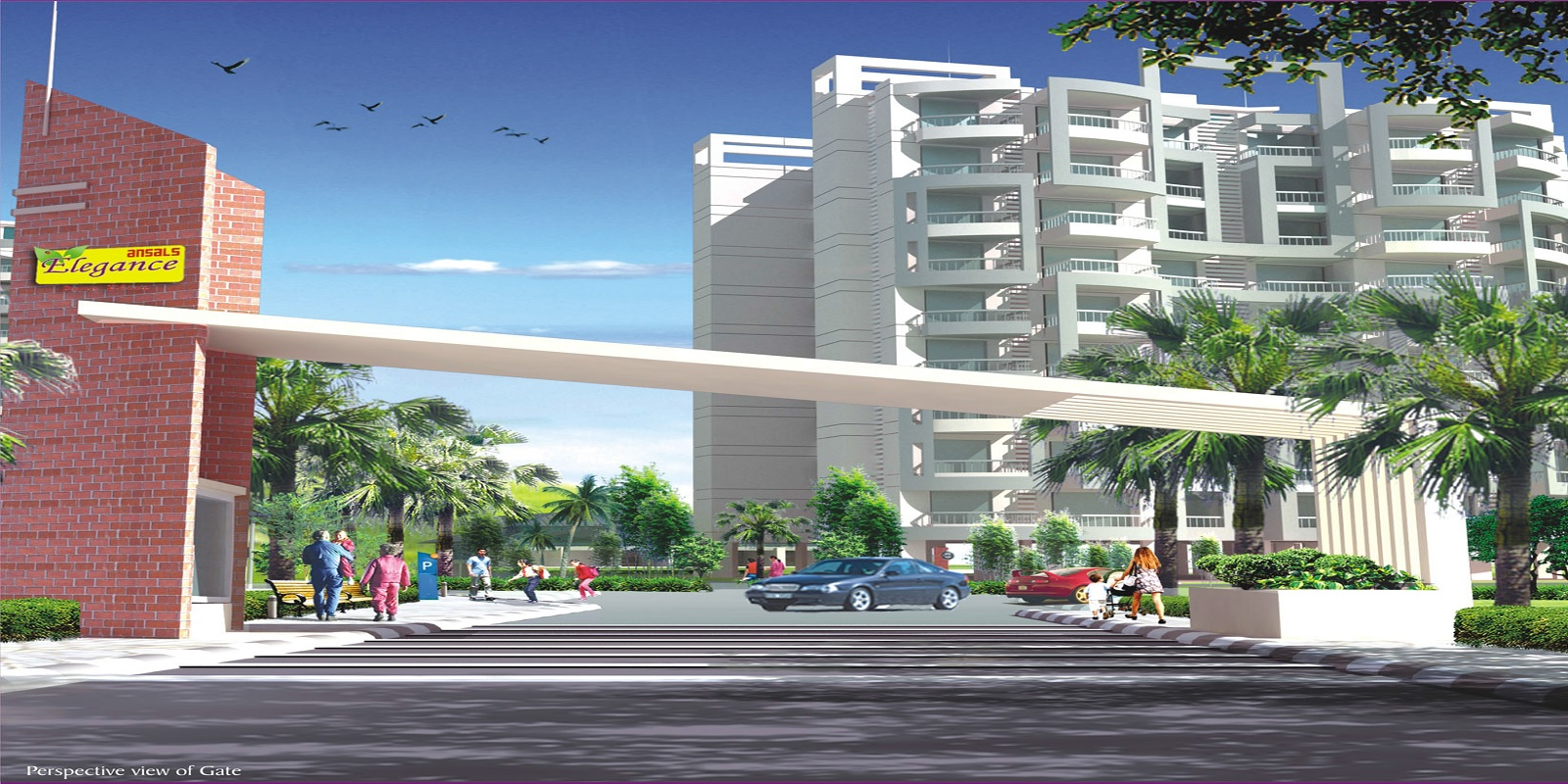 ansal housing elegance project entrance view1