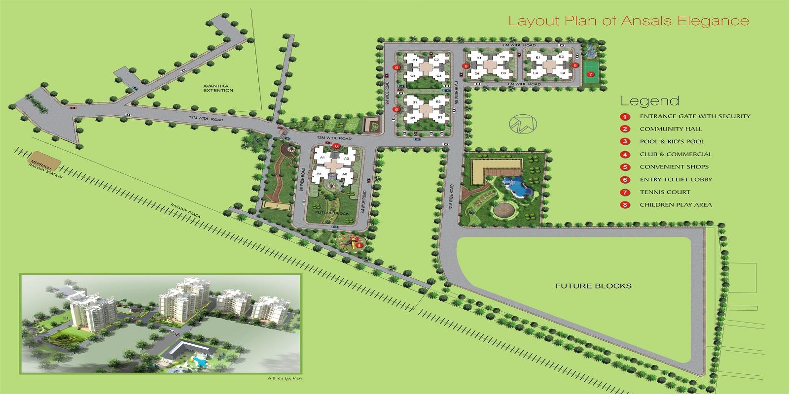 ansal housing elegance project master plan image1