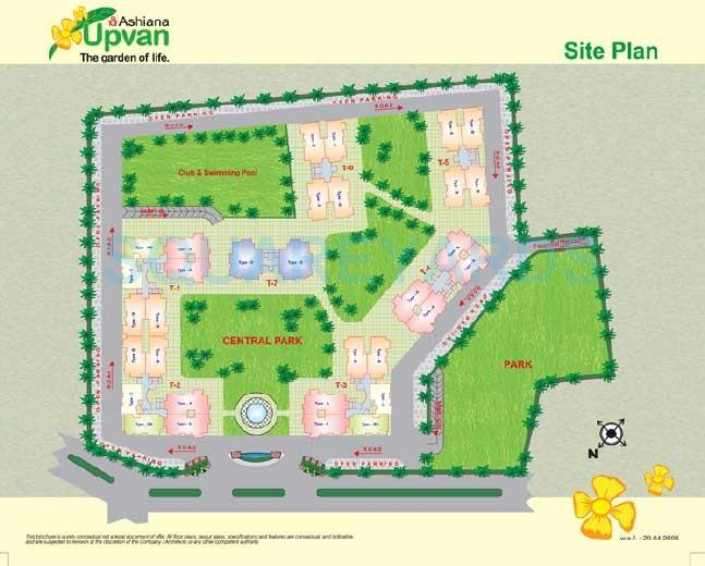 ashiana upvan master plan image1