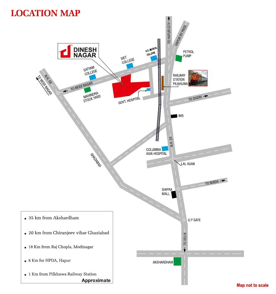 landcraft dinesh nagar project location image1