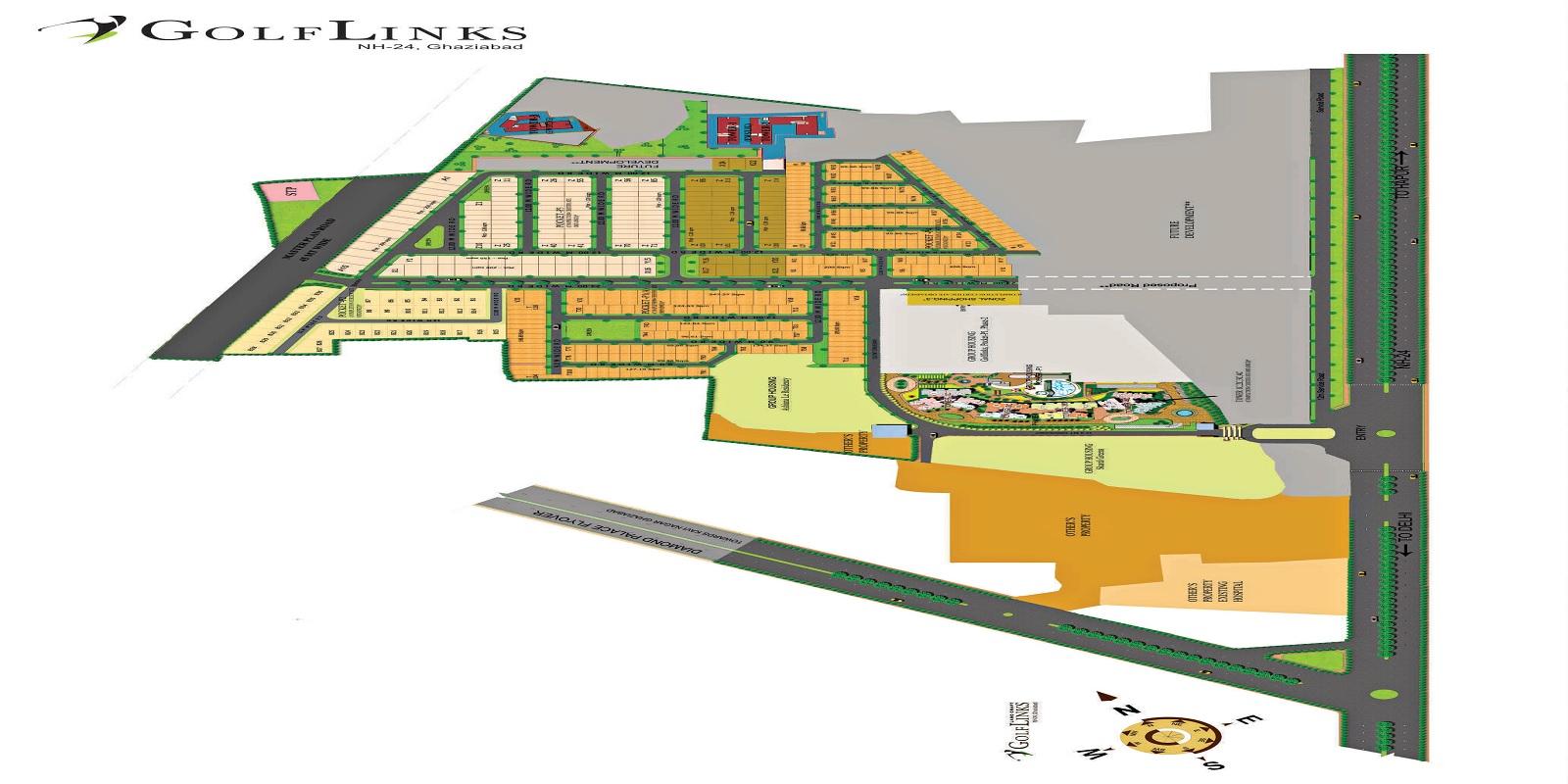 landcraft golflinks apartments project master plan image1