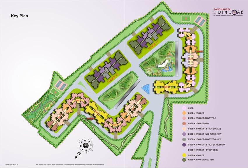 panchsheel primrose project master plan image1