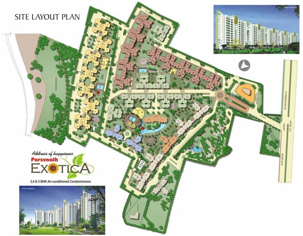 parsvnath exotica ghaziabad project master plan image1