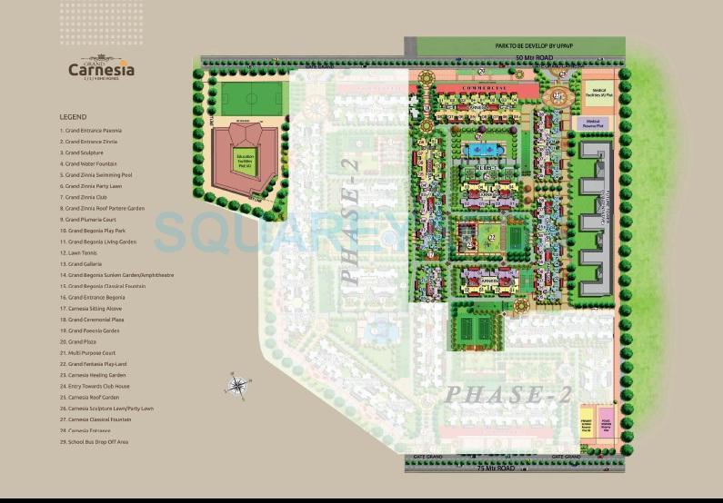 prateek grand carnesia master plan image1