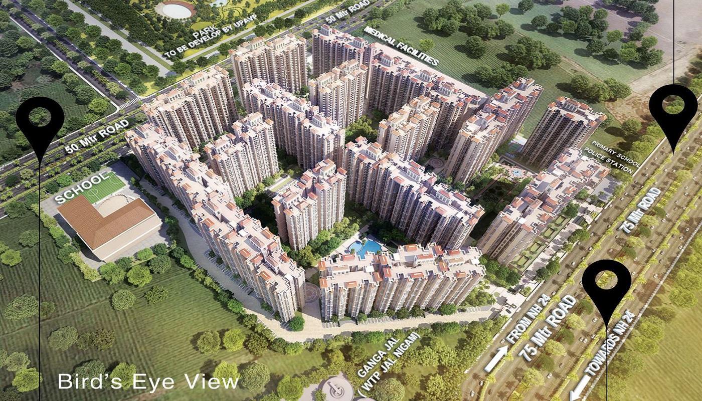 prateek grand carnesia project tower view3