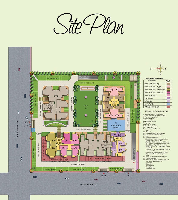 sg shikhar height project master plan image1