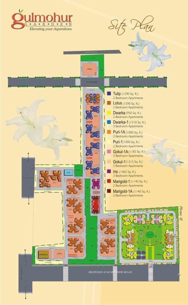 svp gulmohur garden project master plan image1