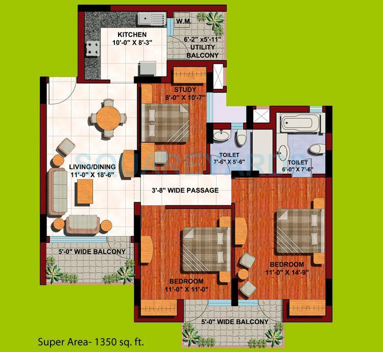aba corp orange county apartment 2bhk st 1350sqft 1