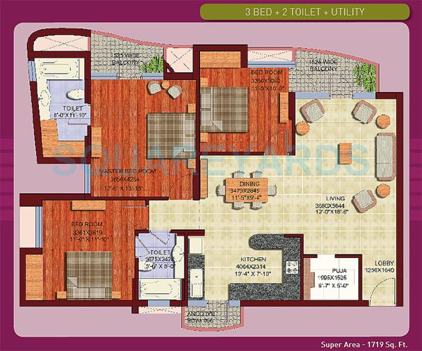 aba olive county apartment 3bhk 1719sqft1