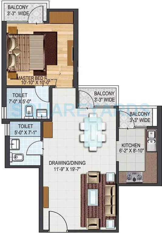aditya city apartments apartment 1bhk 783sqft1