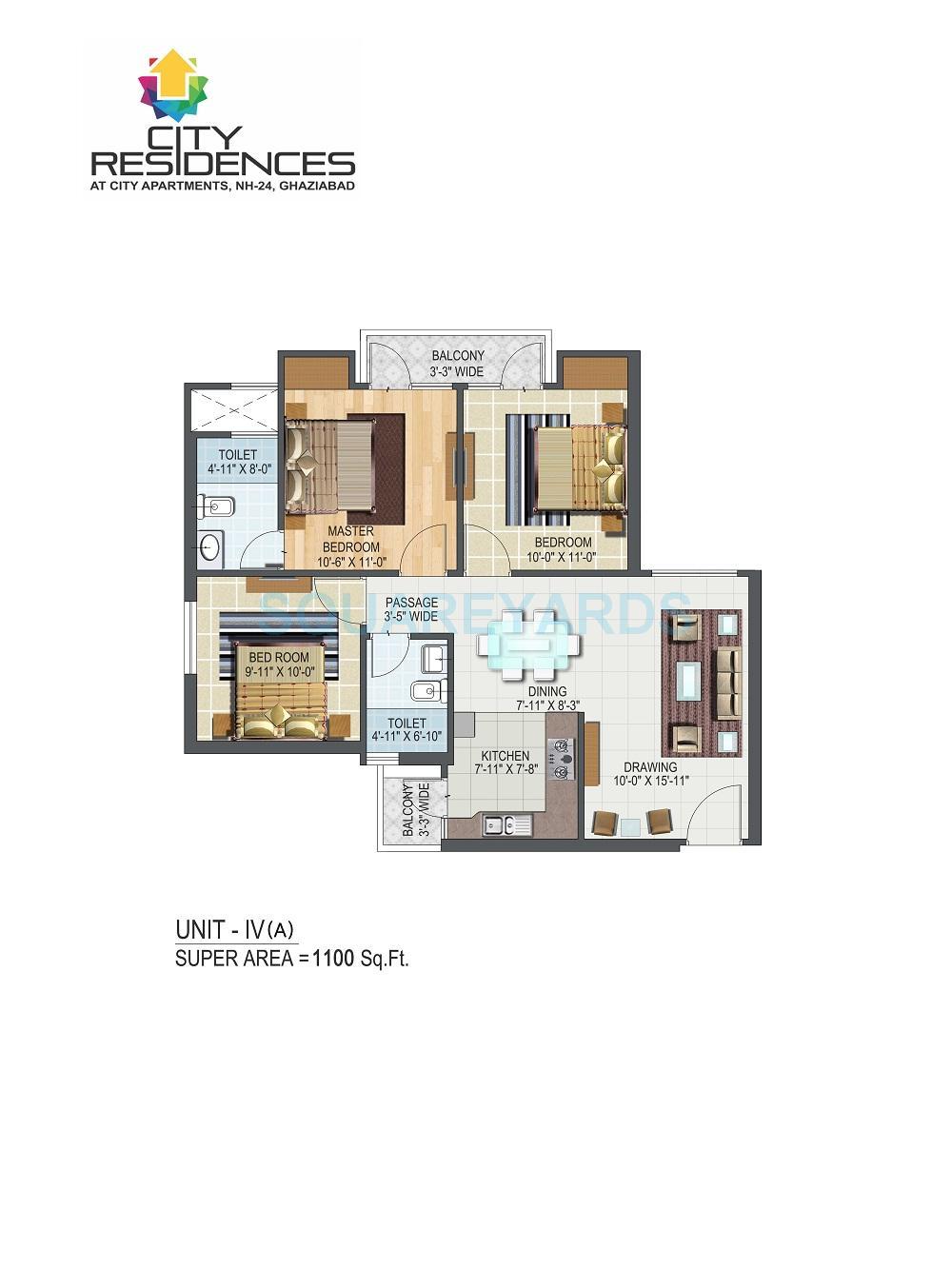 aditya city apartments apartment 3bhk 1100sqft 1