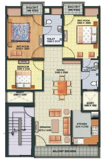 aditya gracious floors apartment 3bhk 1506sqft1